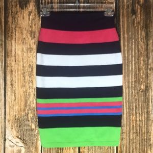 Lilly Pulitzer knit striped pencil skirt